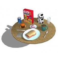 Breakfast Spread sketchup model Sketchup Models, 3d Cad Models, Salad Bar, Triangle, Kids Rugs, Breakfast, Food, Design, Home Decor