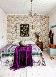 Purple Bohemian Bedroom 31 bohemian style bedroom interior design | clutter