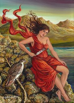 The Messenger  Mythology Goddess Art 5x7 Greeting by EmilyBalivet, $5.00