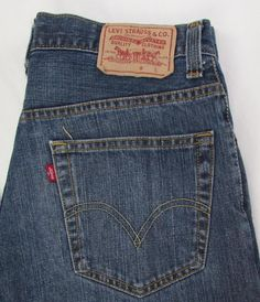 5bc80e30 Men Levis Levi's 559 Relaxed Straight Jeans 100% Cotton Dark Wash sz 32 X  32 | eBay
