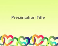 Free Valentine's Day PowerPoint Template with Love Drawings