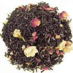 """French Blend from English Tea Store - Ooh-la-la flavor notes from """"crème de la vanille"""", Earl Grey, Jasmine, and Lavender deliciously blended with flavory Ceylons, Nilgiris, Assams, and Kenyas. French Blend boasts a good flavor, tempered with a flowery character and malty notes."""
