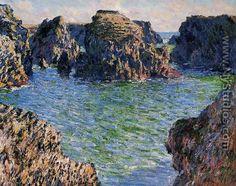 Coming Into Port Goulphar Belle Ile - Claude Oscar Monet