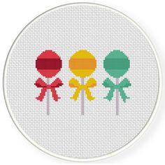 Charts Club Members Only: Lollipops Cross Stitch Pattern