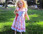 "SALE..Buy 2 get 1 free..""Cindy Lou""....Flutter Strap Girl's Reverse Knot Dress w Side Ties Instant Download PDF Sewing Pattern,6-12 M to 8"