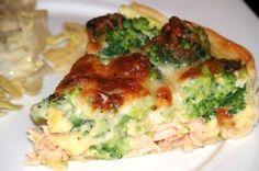 Quiche au saumon et brocoli