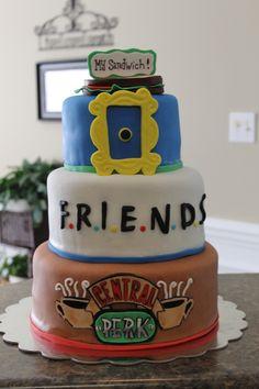 48 Super Tv Shows Birthday Friend Cake Ideas,friends cake decorations,friends birthday cake topper,friends themed cake decorations Friends Birthday Cake, Friends Cake, 16 Birthday Cake, Themed Birthday Cakes, Themed Cakes, Birthday Parties, Birthday Recipes, Birthday Quotes, Birthday Ideas