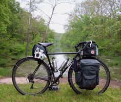 Surly touring bike outfitted