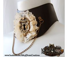 Steampunk Lydia Leather Neck Corset Collar-Necklaces