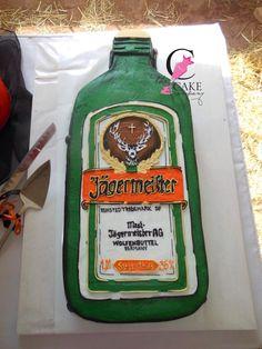 Jägermeister bottle cake