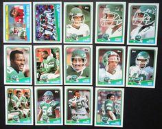1988 Topps New York Jets Team Set of 14 Football Cards #NewYorkJets