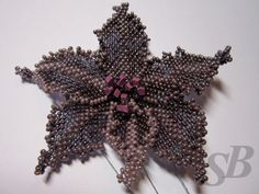 Peyote flower schema. Contruction similar to daffodil. #seed #bead #tutorial