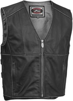 River Road Rambler Classic Street Riding Leather Motorcycle Vest