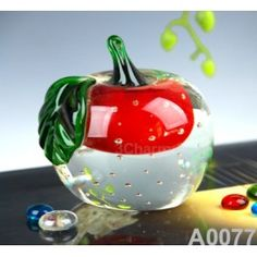 Size: 8.3DX9.4cm     Material: Murano glass     Description:  All of our glass crafts are true hand blown. They are different from the other glass crafts which are made by machine. Our glass crafts are handicraft in its true sense. Our products are international certified, they are controled in the standard quality field. Now we have some stocks to sell,and the real products will look exactly the same as photos.