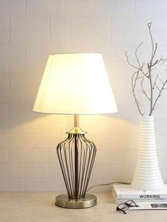 Denver White Gold Table Lamp | Buy Luxury Table Lamps Online India - Contemporary Table Lamp which is a versatile decor element in your interior space. The luxurious white gold table lamp renders an elegant appeal to your home decor and adds a luxurious charm to modern interiors. Decoration Lights For Home, Light Decorations, Home Decor, Luxury Table Lamps, Luxury Chandelier, Led Lights Online, Lighting Online, Hanging Lights, Wall Lights