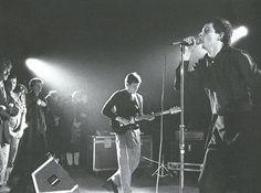 Ian Curtis and Bernard Sumner (Joy Division), 1980.