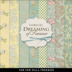 Far Far Hill - Free database of digital illustrations and papers: Freebies Kit of Backgrounds - Dreaming of Summer Papel Scrapbook, Digital Scrapbook Paper, Digital Papers, Digital Paper Freebie, Digital Scrapbooking Freebies, Far Hills, Free Prints, Printable Paper, Paper Background