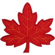 Maple Leaf Applique Design