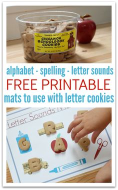 Adorable free printables for alphabet cookies from Trader Joe's !