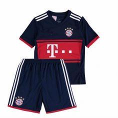 Kids FC Bayern Munich 2017-18 Season Away FCB Kit [K624]