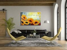 Oil Painting, Paintings on Canvas Art, Sunflower #art #painting @EtsyMktgTool http://etsy.me/2iPpijk