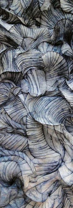 Paper sculpture by Peter Gentenaar (details)//