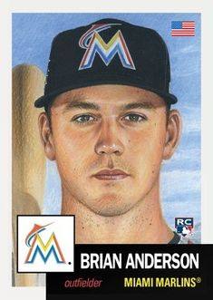 Brian Anderson, Miami Marlins, The Outfield, National League, Trading Cards, Baseball Cards, History, Fan, Sports