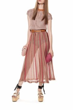 m missoni Pleated Midi Skirt - Main Image