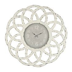 Distressed Cream Catherine Wall Clock