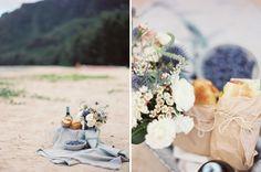 beach wedding/elopment picnic