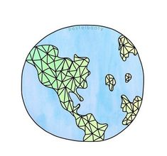 blue, continents, drawing, earth, geometric, globe, green, overlay,