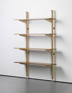 View Unique set of adjustable shelves, designed for Ferembal House, Nancy by Jean Prouvé on artnet. Browse upcoming and past auction lots by Jean Prouvé. Oak Shelves, Bookcase Shelves, Wooden Shelves, Display Shelves, Storage Shelves, Jean Prouve, Colani, Perriand, Shelving Systems