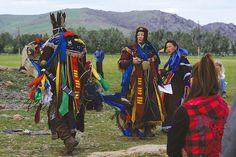 Shaman in mongolia