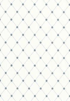 Wilton Trellis blue and white #Thibaut #Geometric
