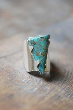 Turquoise Spinnaker Ring Prong Set