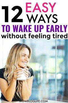 Here are the ultimate tips to wake up early and not feel tired. Getting up earlier will do wonders for your productivity! You need some motivation but also discipline in order to wake up early and not feel tired or sluggish. If you've been wondering how to wake up, here are 152 easy to follow tips to do just that. #wakeup #productivity #productivityhacks #timemanagement #morningroutine #lifehacks #morning #sleep