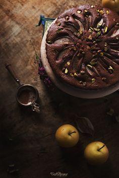 Cacao and nashi cake. TartAmour.com