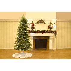 7.5 ft. Blue Spruce Elegant Twinkle Quick-Set Slim Artificial Christmas Tree with 450 Clear and Sparkling LED Lights-W14L0464 - The Home Depot