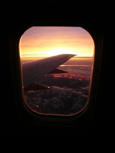 #Sunset from a #plane window. #travel