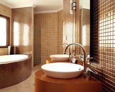 Bathroom Color Trends for 2012 Spread Decor: Brown Bathroom Design Image Wallpapers Amazing Bathrooms, Luxury Bathroom, Elegant Bathroom, Creative Interior Design, Elegant Bathroom Design, Best Bathroom Designs, Small Bathroom Renovations, Bathroom Design Luxury, Modern Bathroom Design