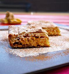 Υπέροχη, γλυκιά κολοκυθόπιτα, με εθιστικά αρώματα και πλούσια σε αντιθέσεις, υφή (μαλακιή γέμιση σε τραγανό φύλλο) από την αυθεντική κουζίνα της Μυτιλήνης. Greek Desserts, Greek Recipes, Cookie Dough Pie, Sweets Recipes, Vegetable Dishes, Banana Bread, Deserts, Pumpkin, Snacks