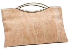 Cork Medium Clutch in Natural with Metal Handles - Beyond Bags Credit Cards, Small Bags, Sustainable Fashion, Clutch Bag, Cork, Make It Simple, Keys, Handle, Events
