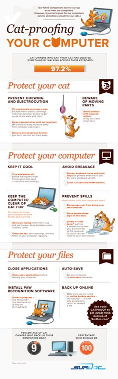 There are 97.2% of cat owners who experience getting something deleted by their cat as it walks across the keyboard. The infographic from Surdoc.com s  / Help for your computer...http://bit.ly/KUtHxd