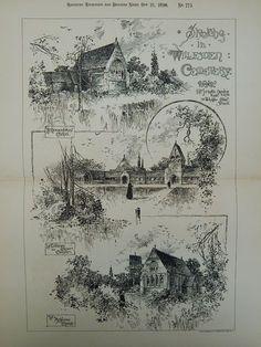 Sketches in Willesden Cemetery in Willesden, England, 1890. J. Martin Brooks