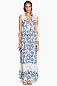 Vestido maxi estampado | H&M