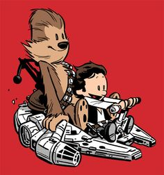 Star Wars meets Clavin and Hobbes- LUV it!