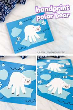 This handprint polar bear is a fun and easy winter craft for toddlers! Its great when learning about arctic animals or l Daycare Crafts, Classroom Crafts, Kid Crafts, Winter Crafts For Toddlers, Preschool Winter, Artic Animals, January Crafts, Toddler Art, Animal Crafts