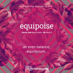 Get the Word of the Day - equipoise | Dictionary.com