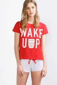 "women'secret | Products | Short cotton ""Wake Up"" pyjama"