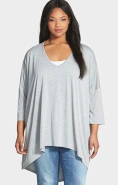 "Sejour Plus Size High Low Tee - Love a Good ""Drapey"" Tee!"